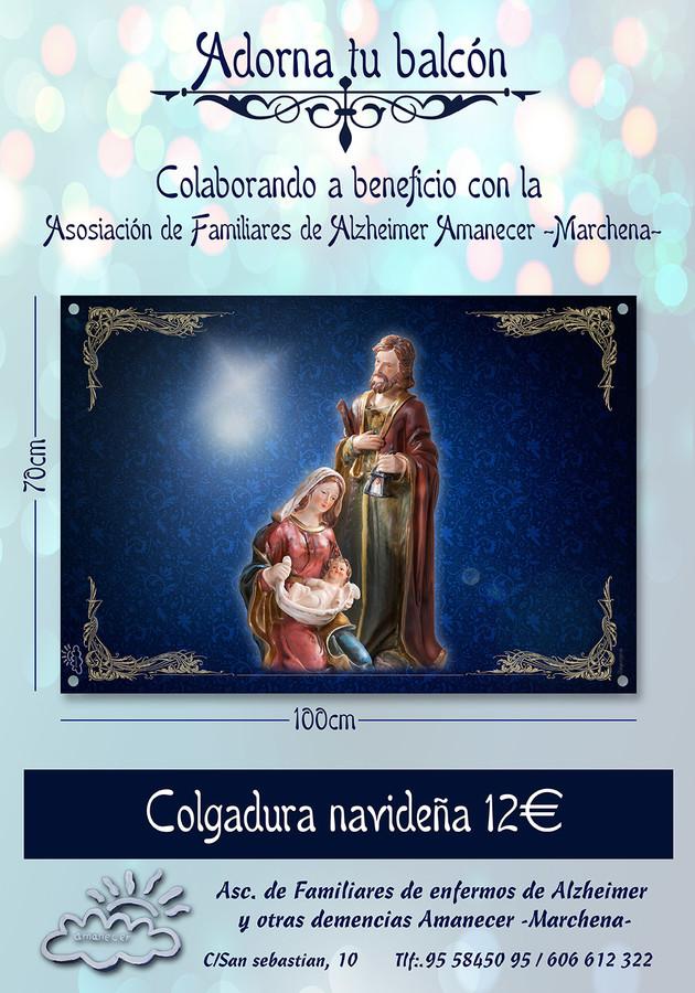 Fotoymagen, Colgadura Navideña, Asoc Amanecer Marchena